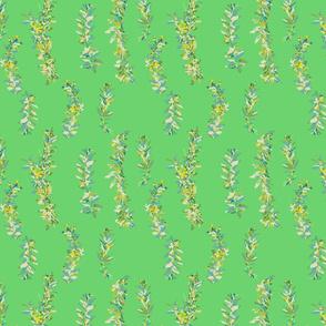 lei strands - bright green