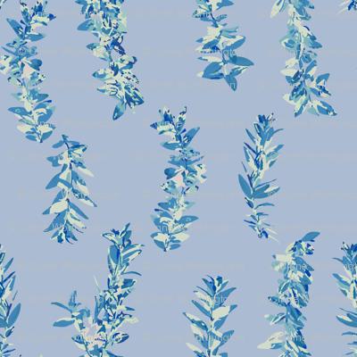 lei strands - pastel blue