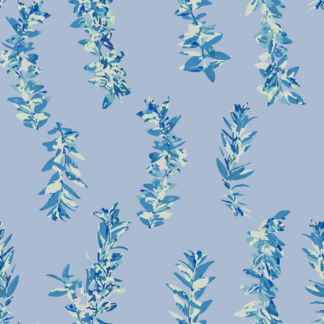 lei strands - pastel blue fabric by cinneworthington on Spoonflower - custom fabric