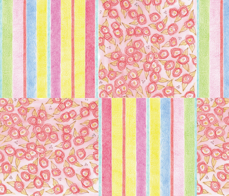 Candy Floral 4 by Diane Costanza Studio fabric by diane_costanza_studio on Spoonflower - custom fabric