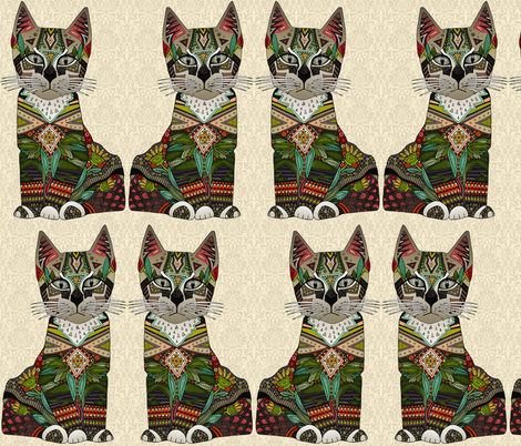 pixiebob kitten cream aya fabric by scrummy on Spoonflower - custom fabric