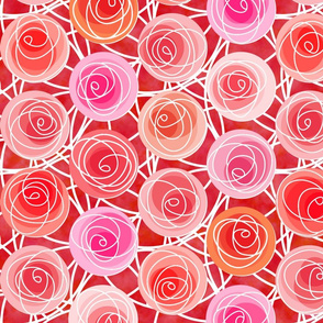 renne's roses in red