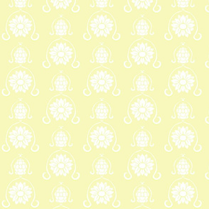 Flower Damask 3- Yellow