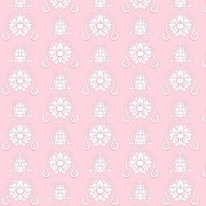 Flower Damask 3- Pink