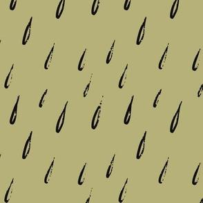 Khaki raindrop