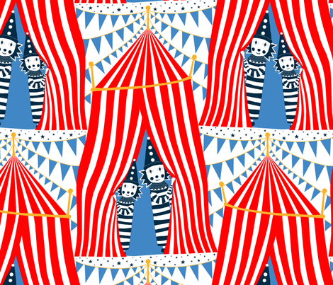 Under_the_Big_Top fabric by j9design on Spoonflower - custom fabric