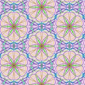 Starry Blooms on Misty Mauve