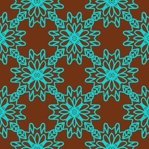 Beautiful Barb -brown/blue