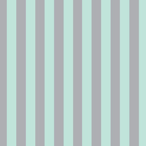 Mint Stripes over Gray