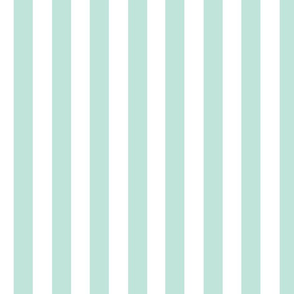 Mint and White Stripe