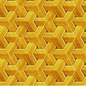 Optical illusion in yellow