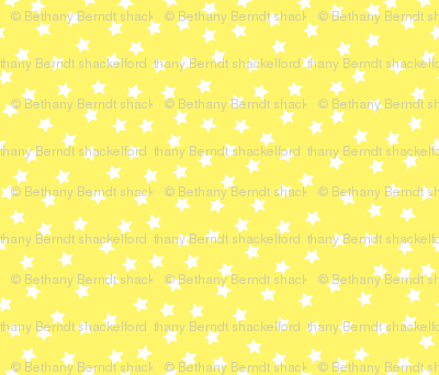 Twinkle Little Stars  white on yellow