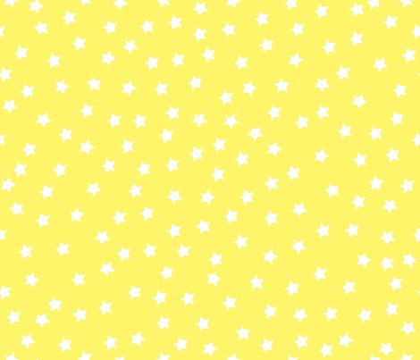 Twinkle Little Stars  white on yellow fabric by bzbdesigner on Spoonflower - custom fabric