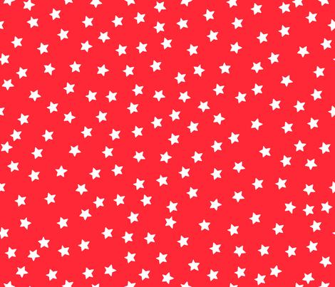 Over Moon White Stars on Red fabric by bzbdesigner on Spoonflower - custom fabric