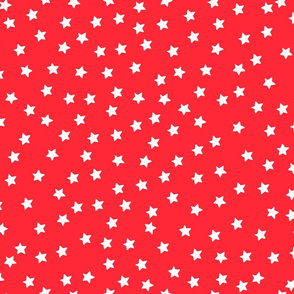 Over Moon White Stars on Red