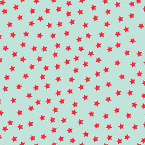 Over the Moon Red Stars on Mint
