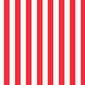 Red Stripe on white