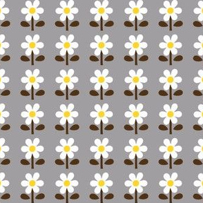 picnic retro flower_gray