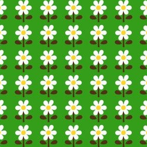 picnic retro flower_green