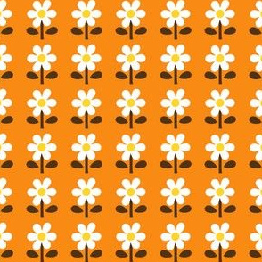 picnic retro flower_orange