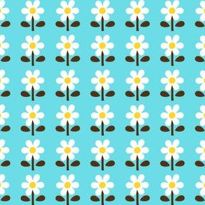 picnic retro flower_skyblue