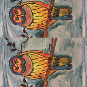 Owl in watercolours
