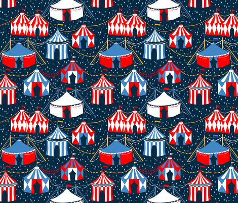 Starry Circus fabric by ceciliamok on Spoonflower - custom fabric