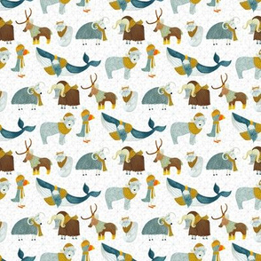 Pattern #72 - Arctic Animals with woolly scarves - SM