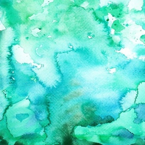 Green-Blue Watercolor Paint