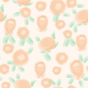 Rose floral pattern fabric pastel pink