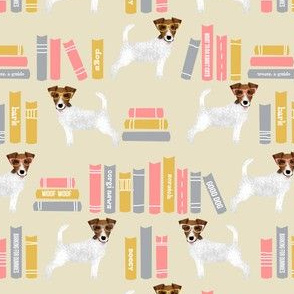 Jack Russell Terrier library books patternlite