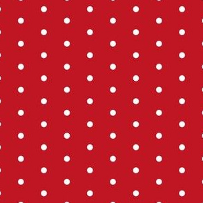 Mini Dot christmas minimal pattern red