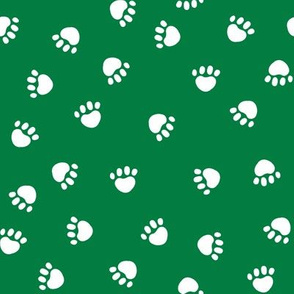 Paws christmas minimal pattern med green
