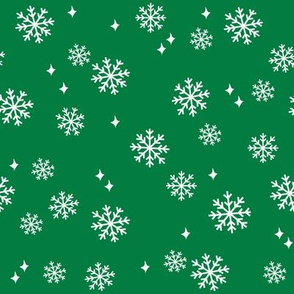 Snowflake christmas minimal pattern med green