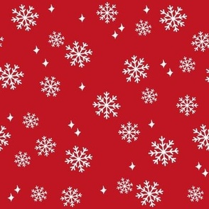 Snowflake christmas minimal pattern red