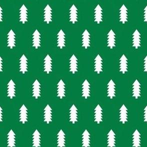 Trees christmas minimal pattern med green