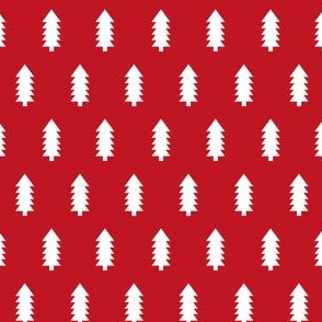 Trees christmas minimal pattern red
