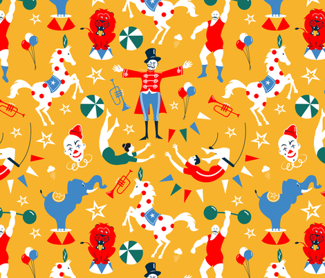 The Circus Is In Town fabric by overbye on Spoonflower - custom fabric