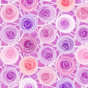renne's roses in pink