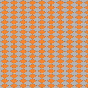 Orange diamond on gray