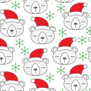 Christmas bears sleeping