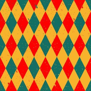 Gritty Harlequin (x3 red yellow green)