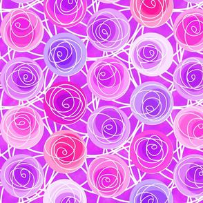 renne's roses in magenta