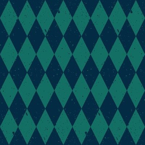 Gritty Harlequin (blue & green)