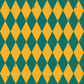 Gritty Harlequin (green & yellow)