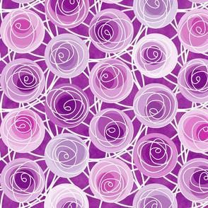 renne's roses in plum