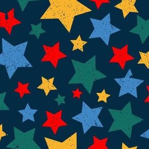 Gritty Stars (dark blue)