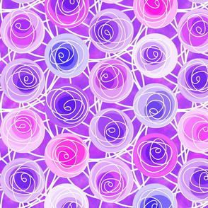 renne's roses in mauve