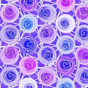 renne's roses in violet
