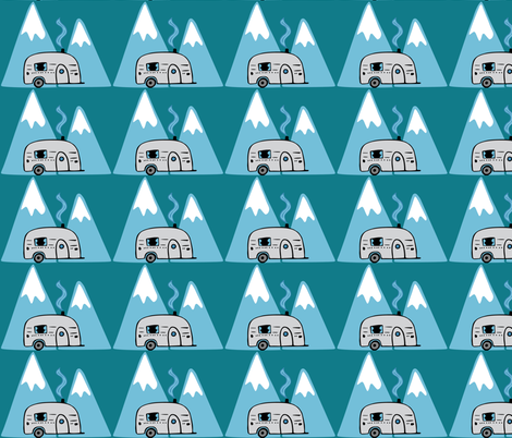 Camping Adventure Collection - Trailer fabric by sara_gerrard on Spoonflower - custom fabric